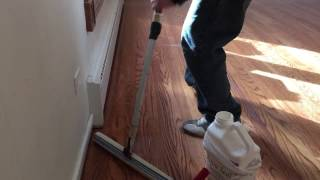 How To Apply Water-Based Finish on the Floor. The best technic!