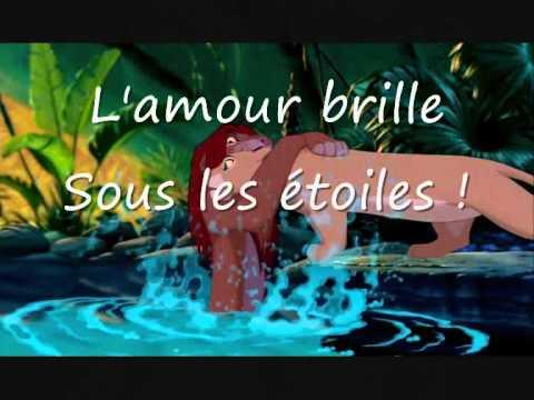 L'AMOUR BRILLE SOUS LES ÉTOILES - Le Roi Lion - PAROLES