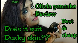 Olivia pancake Review&demo|cheap and best pancake?Dusky skin|testing if waterproof|Asvi