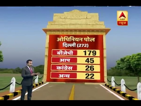 MCD Elections 2017: ABP News-CVoter Opinion Poll: BJP seems to be getting 179 seats out of