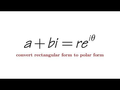 Convert rectangular form to polar form of a complex number (feat. Fematika)