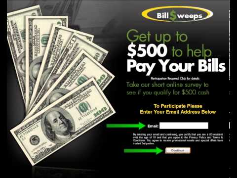 Get up to $500 to help Pay You Bills!!!