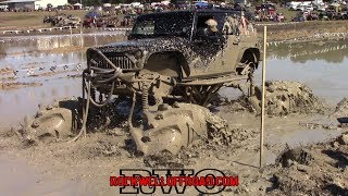 MONSTER TRUCKS IN MUD AT MTM BOUNTY HOLE!!