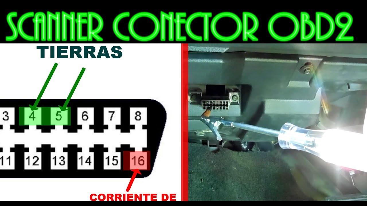 DIAGNOSTICO DE CONECTOR OBD2, no enciende el scanner - YouTube