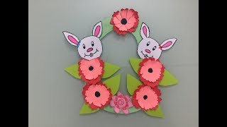 Easter Crafts - Easter Craft Ideas For Kids-Easter Wall Hanging-cute bunny