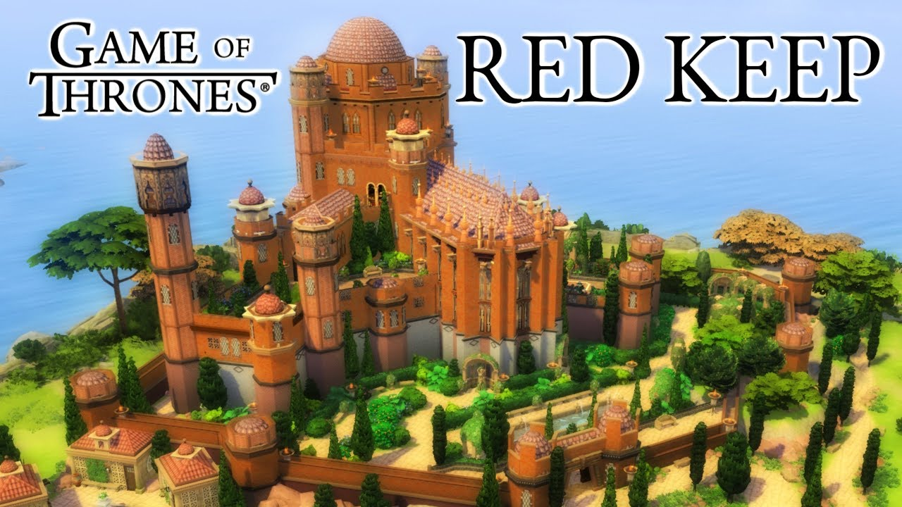 Game Of Thrones The Red Keep Sims 4 Speed Build Youtube
