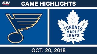 NHL Highlights | Blues vs. Maple Leafs - Oct. 20, 2018