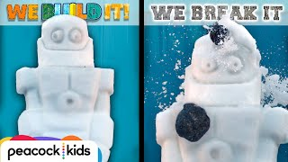 Snow-Bot meets Coal Blaster | WE BUILD IT WE BREAK IT | Learn #withme