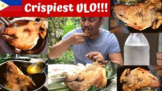 CRISPIEST ULO!!! CRISPY ULO!!! CRISPY PORK HEAD!!! Filipino Food! MUKBANG!!!