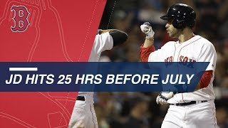 J.D. Martinez sets Red Sox record for homers before July