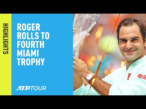 Highlights: Federer Beats Isner To Win Fourth Miami Title