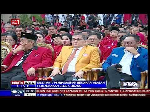 Pidato Megawati di Rakornas Tiga Pilar PDIP
