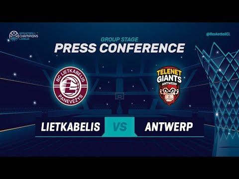 Lietkabelis v Telenet Giants Antwerp - Press Conference - Basketball Champions League 2018-19