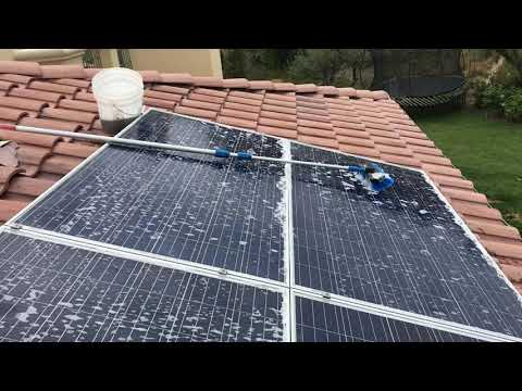 Beautiful Views while cleaning solar panels in Malibu