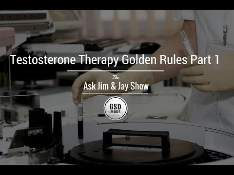 """""""Testosterone Therapy Golden Rules Video 1"""" Ask Jim & Jay Podcast"""