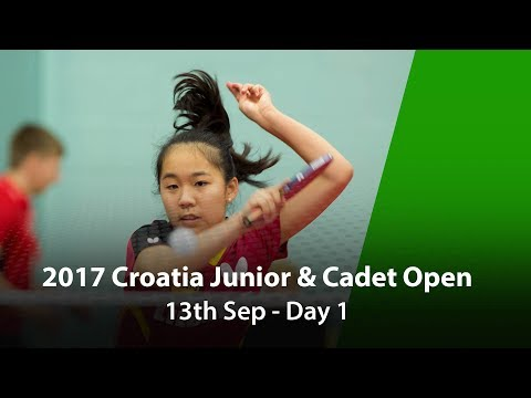 2017 ITTF Croatia Junior & Cadet Open - Day 1
