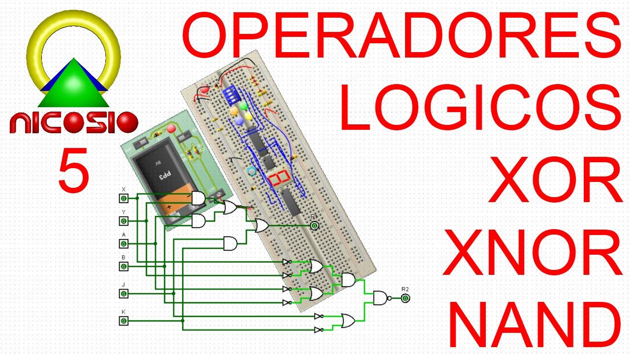 Circuito Xnor : Circuitos digitales operadores lógicos xor xnor nand