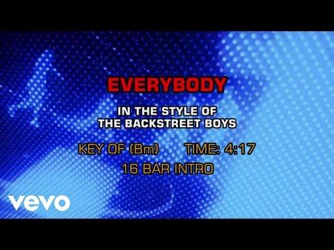 Backstreet Boys - Everybody (Backstreet's Back) (Karaoke)