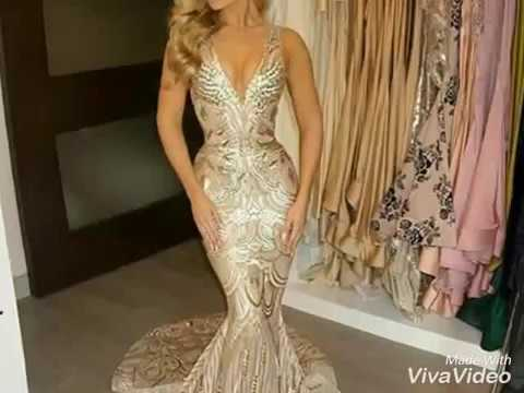 de7ec101fb294  أجمل الفساتين الطويلة للسهرات the beautiful evening dresses - YouTube