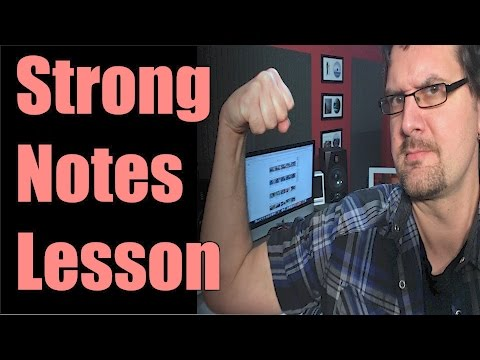 Strong Notes Guitar Lesson