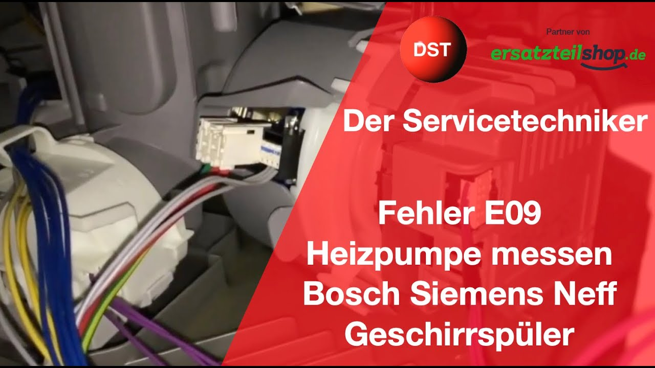 e09 bosch siemens constructa neff heizpumpe defekt check the heating pump youtube. Black Bedroom Furniture Sets. Home Design Ideas