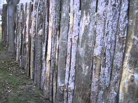 Slab Wood Fence Louvered Fence Youtube