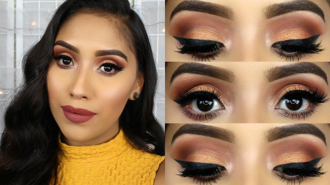 Morphe 35o Palette Fall Makeup Tutorial Youtube