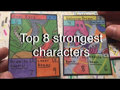 Top 8 strongest characters in set 1 MatchBattlers Homemade TCG |