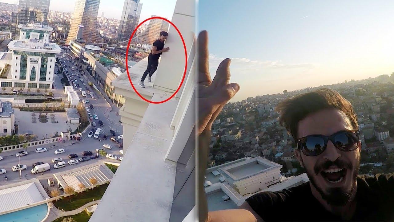 GÖKDELENİN ZİRVESİNE KAÇAK TIRMANMAK !!  | ft. Roof Runnerz