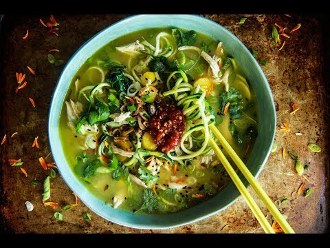 Asian Chicken Zoodle Soup
