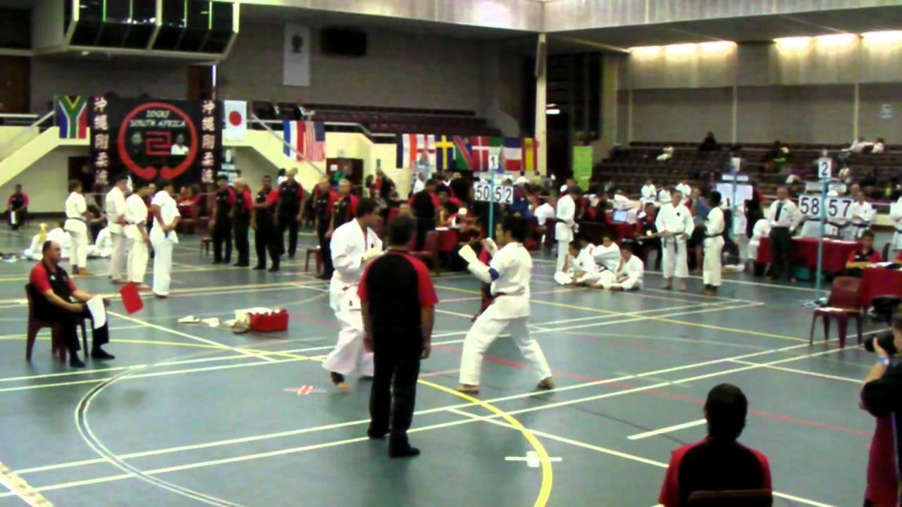 2010 IOGKF World Black Belt Championships Sensei Tyrone Hill vs