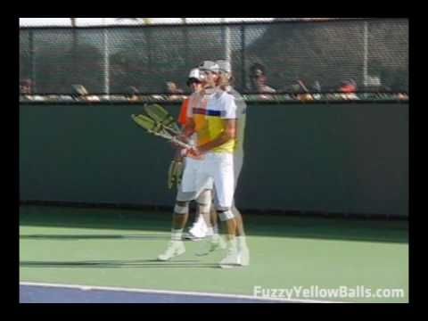 Rafael Nadal S Forehand From The Front In Slow Motion Youtube