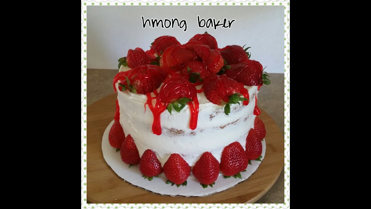 Strawberry Cake With Strawberry Filling