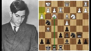 Фото Юный Михаил Таль ЖЕРТВУЕТ качество во Французской! Шахматы.
