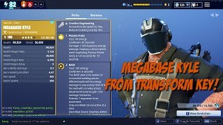 Fortnite Save the World - MegaBase Kyle From Transform Key!