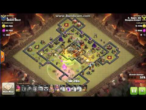 Clash of Clans cland DRagon_KNigHt town 11 vs town10  *3
