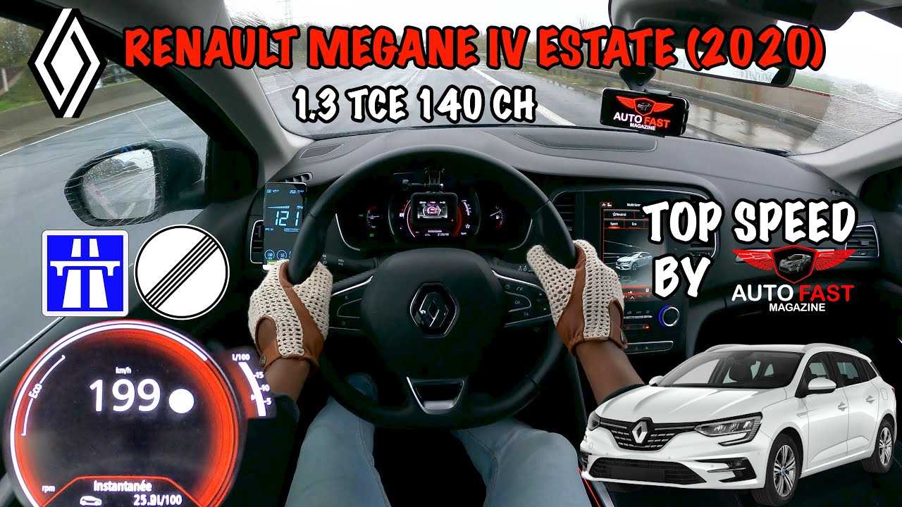Renault Megane IV 1.3 TCE 140 - TOP SPEED DRIVE POV