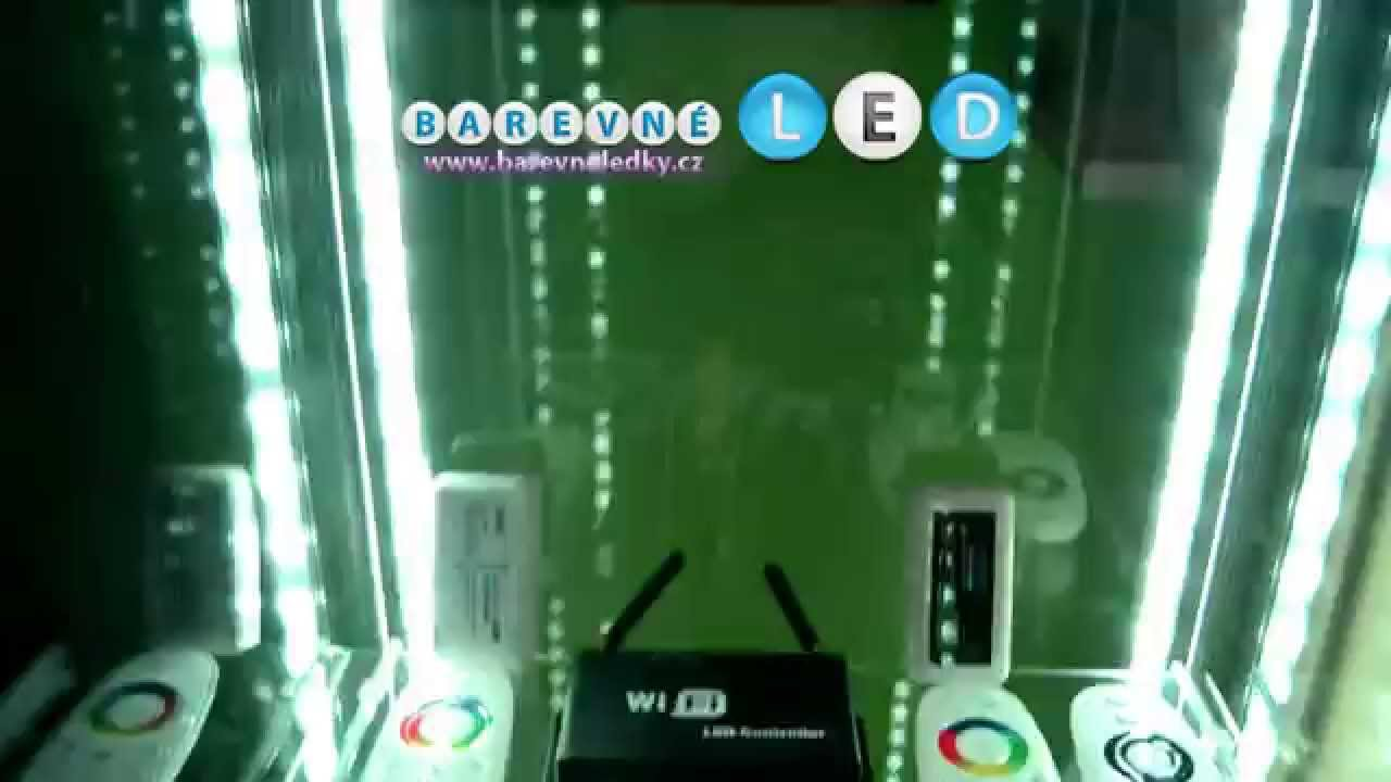 Barevneledky cz rgb 150 led osv cen vitr na detolf detolf ikea showcase light youtube - Vitrina detolf ...
