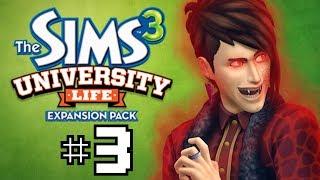 "Sims 3 University Life! Part 3 ""VAMPIRES ON CAMPUS!!"""