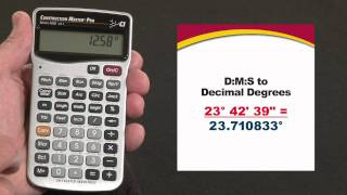 Construction Master Pro Trig D:M:S to Decimal Degrees How To
