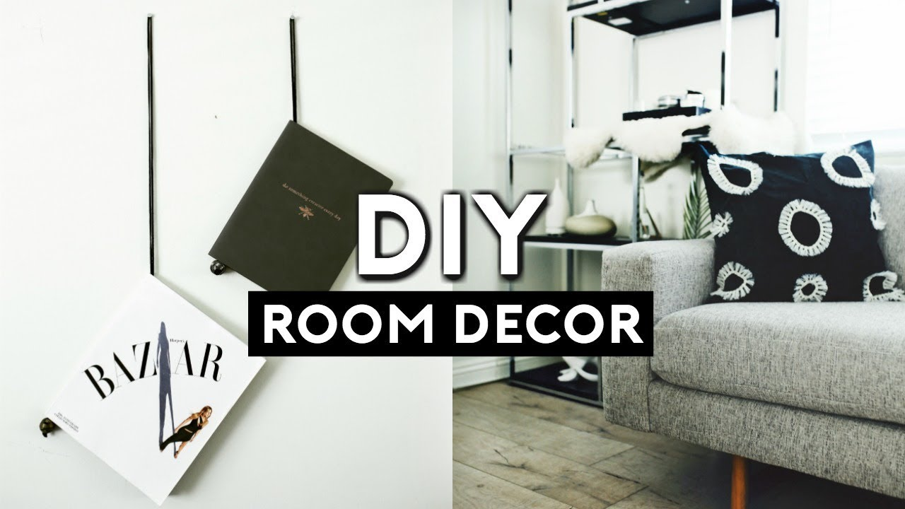 Diy room decor ideas 2018 minimal cheap tumblr for Diy room decorations youtube