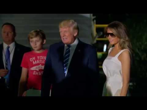President Trump Arrives Back in Washington at The White House  After 2 Weeks in NJ