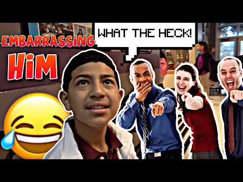 Embarrassing my little brother on his first day of school! 🤣😂 **7th grade** thumbnail