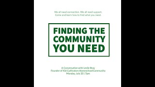 Finding the Community You Need