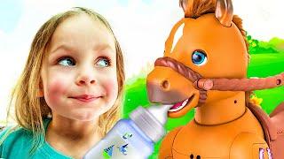 Детская песня про Веселую лошадку | Песни для детей от Майи и Маши
