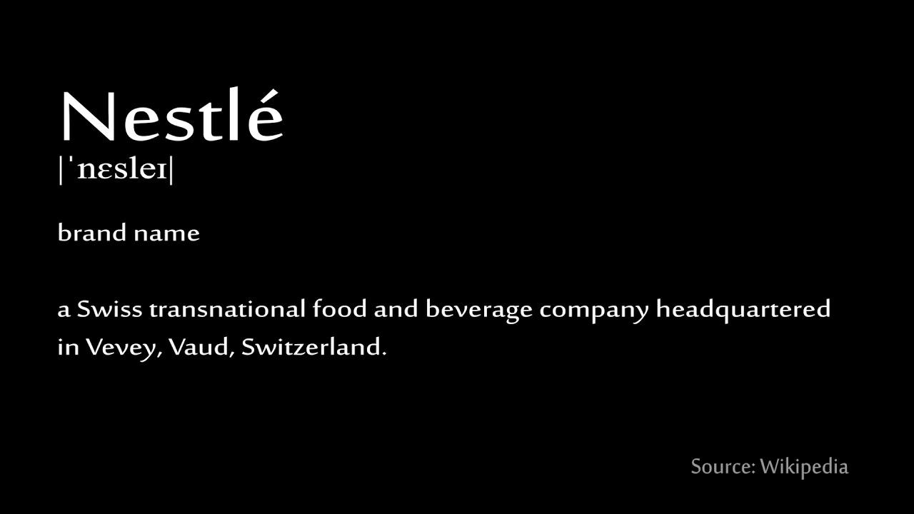 How to pronounce - Nestlé