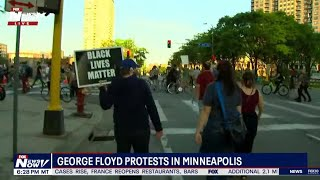 LIVE: George Floyd protesters in Minneapolis