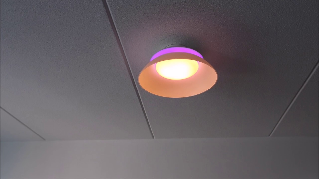 Philips Hue Beyond Ceiling demo & review - YouTube