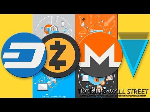 #DASH #ZCASH #MONERO #VERGE #CRYPTOTRADING MARDI 15 MAI 2018 #PRIVACY COINS