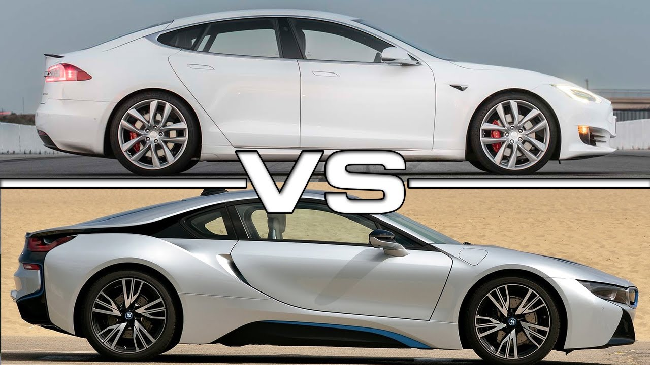 2017 Tesla Model S P100d Vs 2016 Bmw I8 Youtube